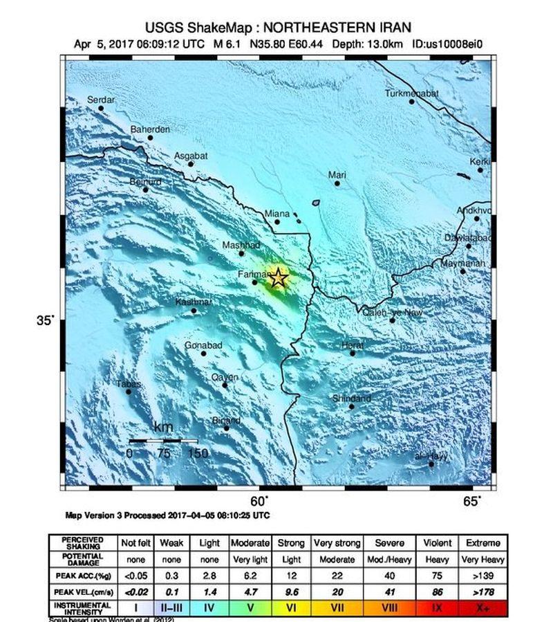 IRAN Najmanje dvoje mrtvih i 377 ozlijeđenih u snažnom potresu
