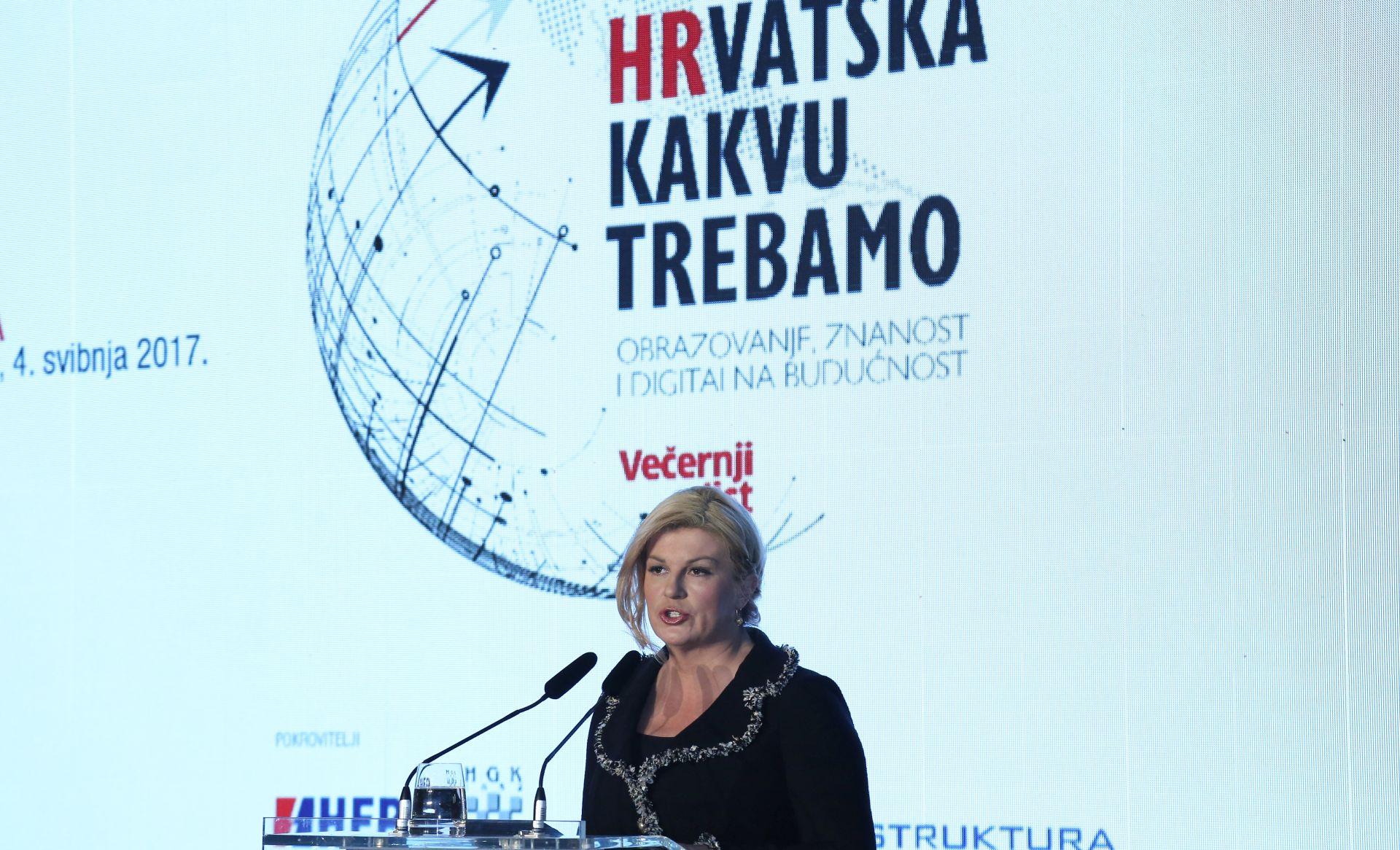 PREDSJEDNICA GRABAR-KITAROVIĆ 'Bez političke stabilnosti nema napretka'