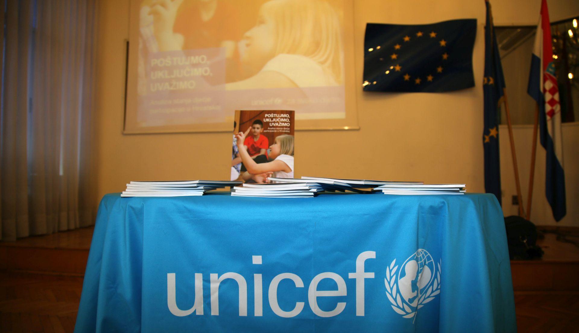 UNICEF predstavio 'Analizu stanja dječje participacije u Hrvatskoj'