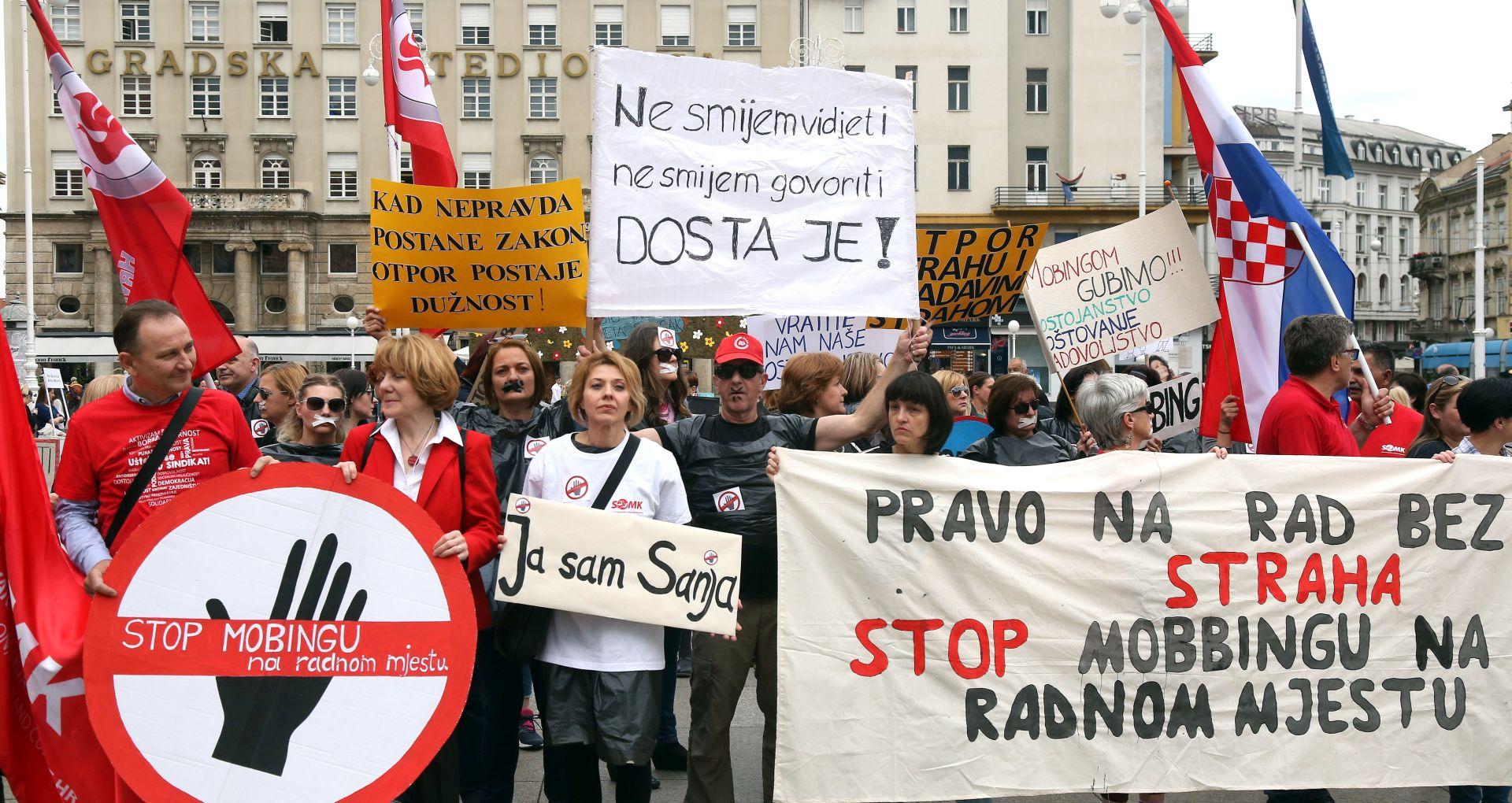 Prosvjed članova SOMK i zaposlenika Dječjih vrtića