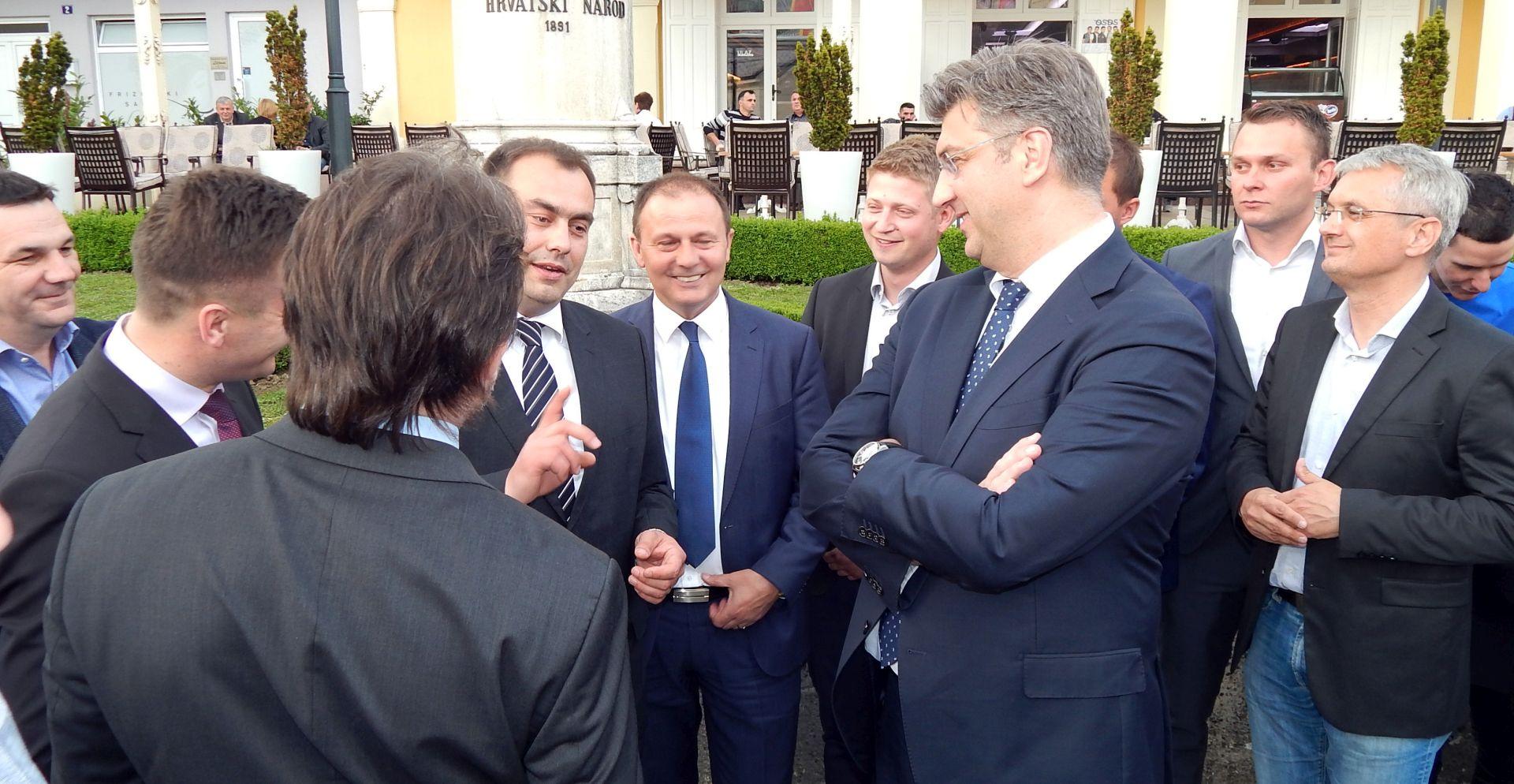 Plenković u Krapini podržao kandidate Ranogajca i Gregurevića