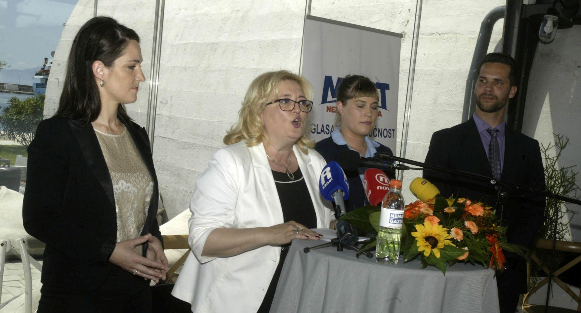 RIJEKA Mostova kandidatkinja za županicu Ines Strenja-Linić predstavila program