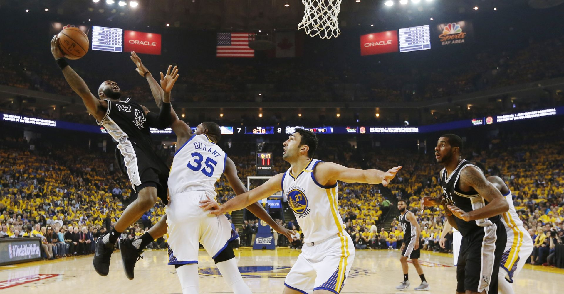 VIDEO: NBA PLAYOFF Golden State 'razmontirao' oslabljeni San Antonio