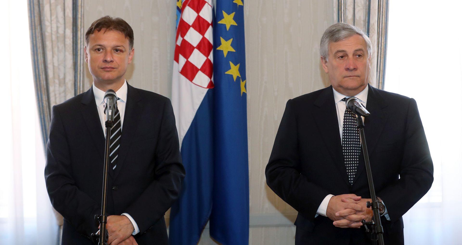Tajani se zalaže za što skoriji ulazak Hrvatske u Schengen