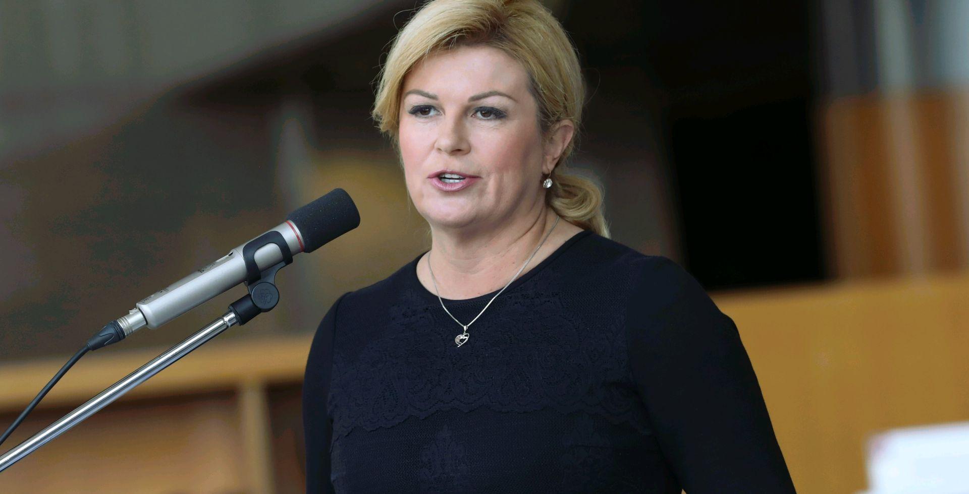 Predsjednica Grabar Kitarović na otvaranju manifestacije Grobnička jesen