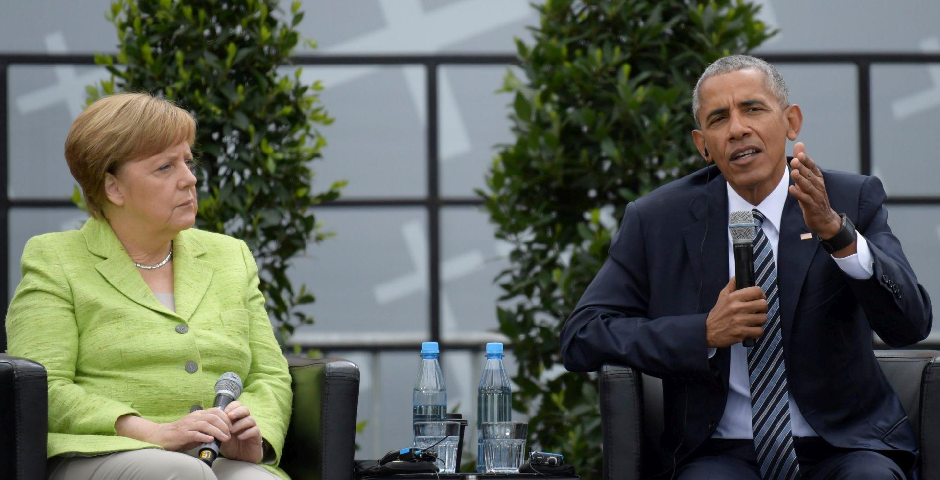 Obama u Berlinu hvalio kancelarku Merkel
