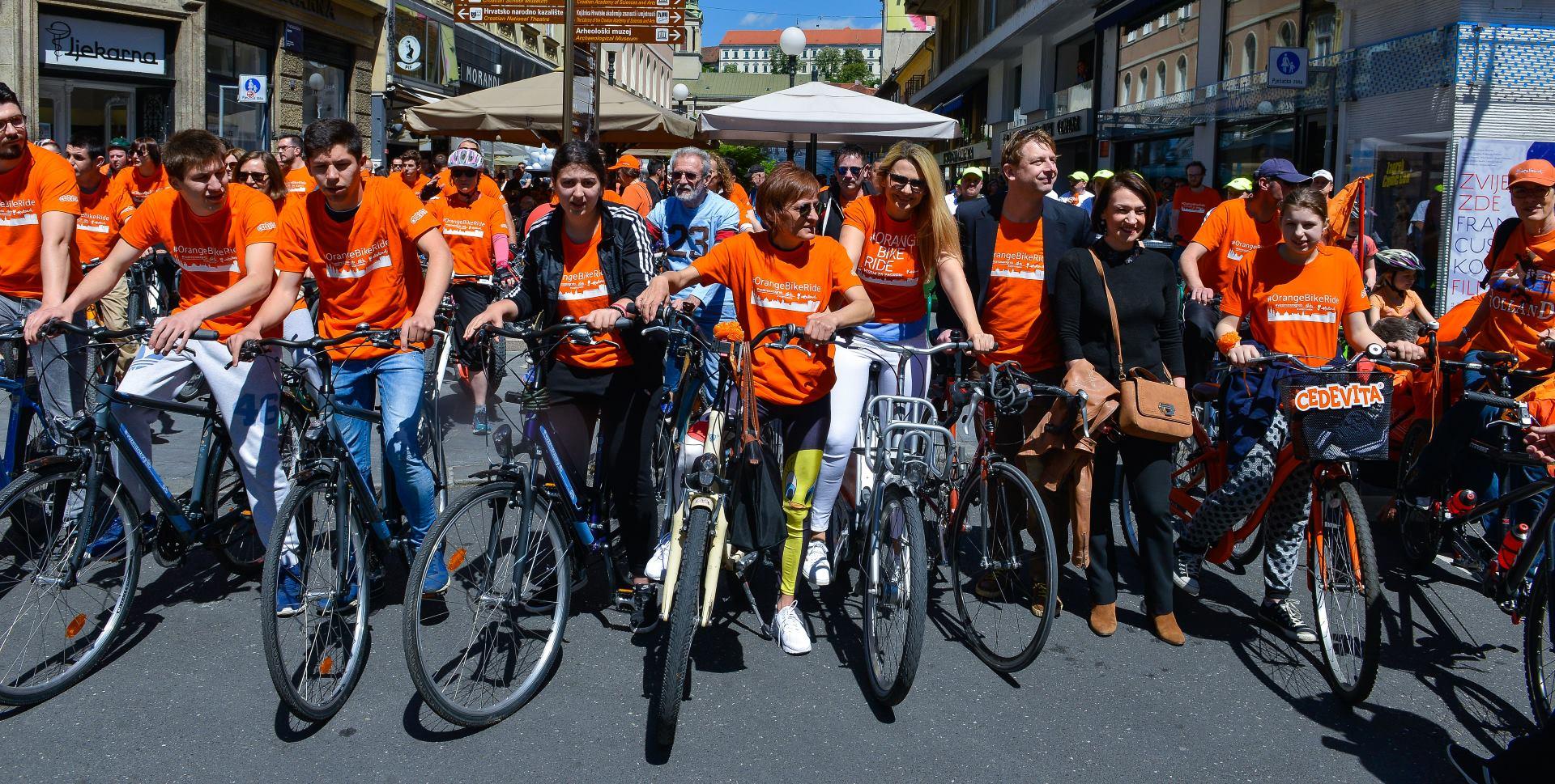 ORANGE BIKE RIDE Centar Grada Zagreba u znaku Europskog biciklističkog izazova