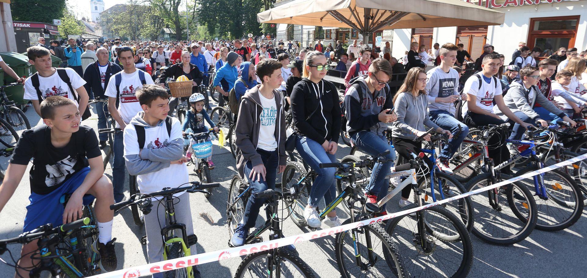 KARLOVAC Više od dvije tisuće biciklista u Prvosvibanjskoj biciklijadi