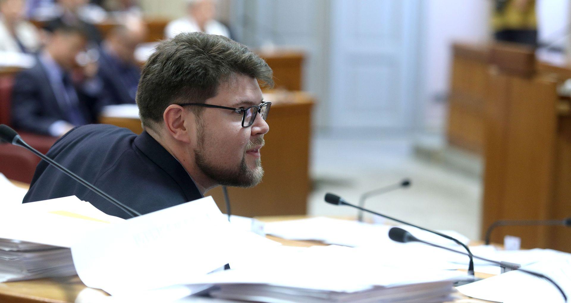 """GRBIN U SABORU """"Mreža sukoba interesa obuhvatila je cijelu Vladu, na čelu s Plenkovićem"""""""