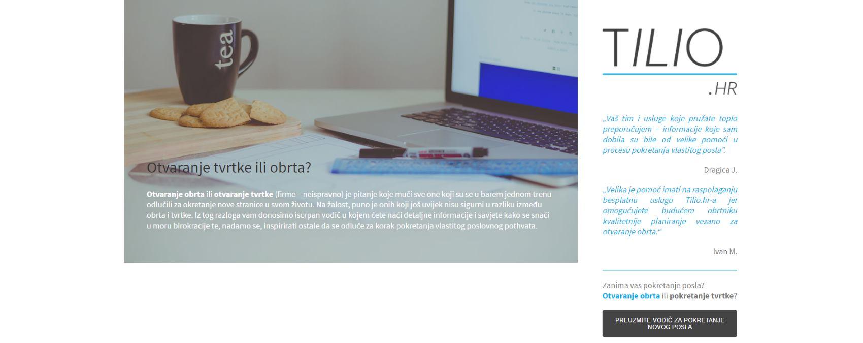Novi projekt za poticanje poduzetništva – Tilio.hr