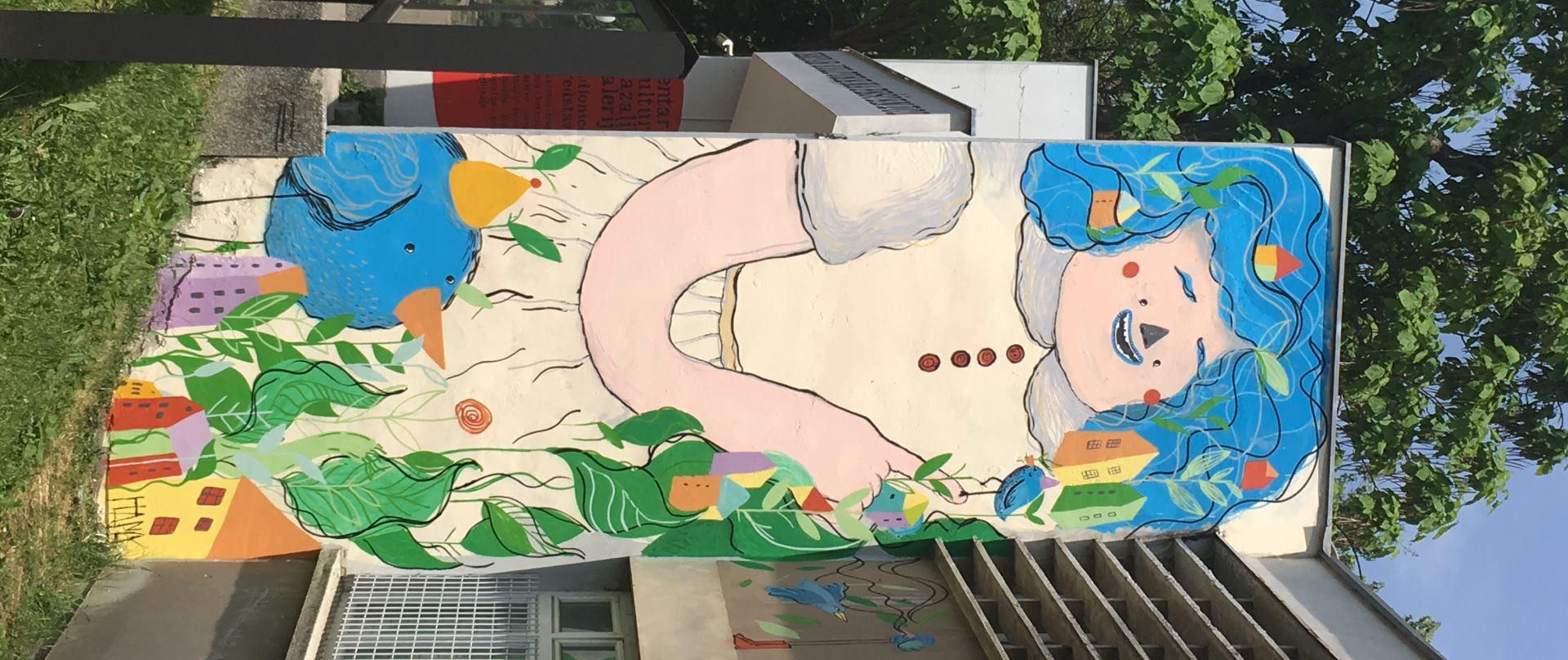 FOTO: Novi mural na pročelju Centra Knap