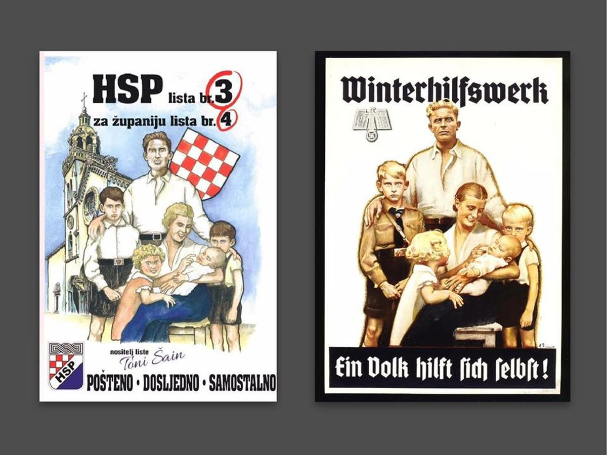 VJEROVALI ILI NE Korčulanski HSP kopirao nacistički plakat