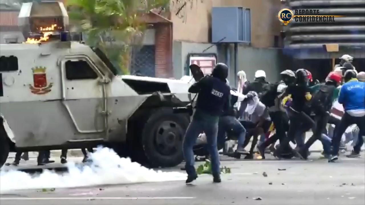 VIDEO: VENEZUELA Nacionalna garda na studente krenula oklopnim vozilima i gumenim mecima