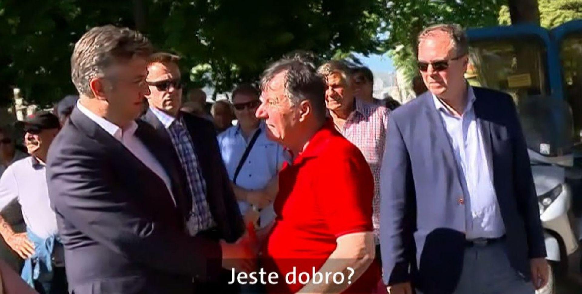 Plenković u Metkoviću susreo oca Nikole Grmoje