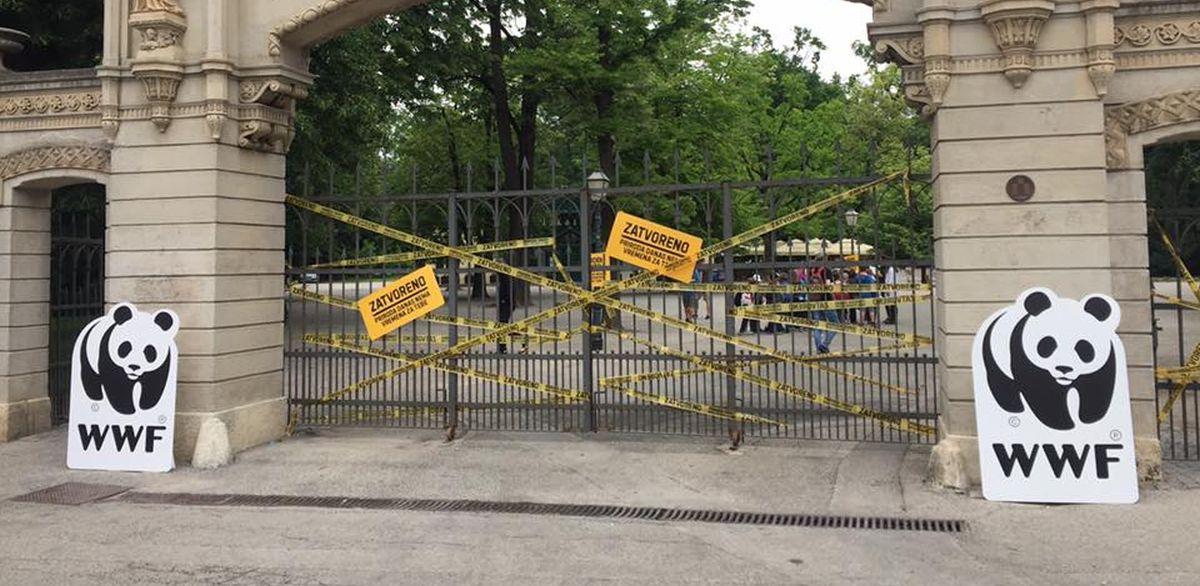 """WWF proveo akciju zatvaranja parka Maksimira: """"Priroda danas nema vremena za tebe"""""""