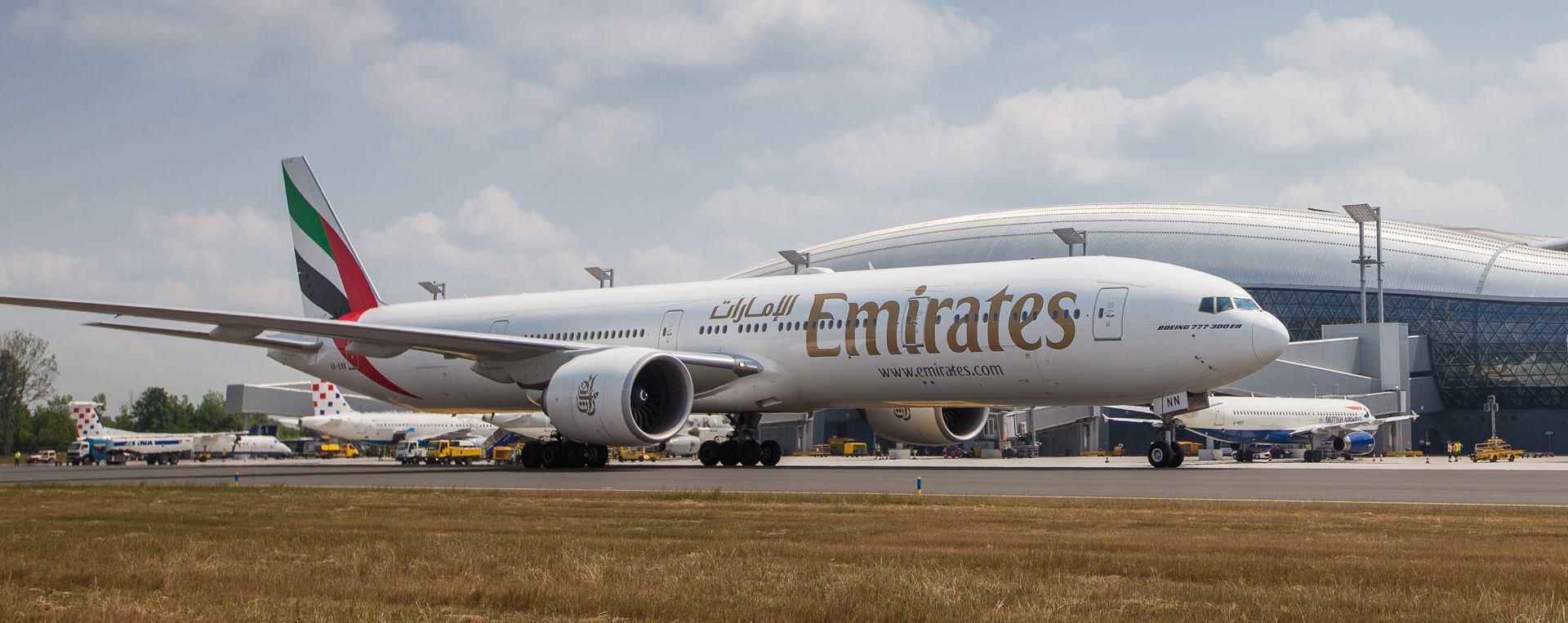 FOTO: Boeing 777-300ER zrakoplovne tvrtke Emirates svečano dočekan u Zagrebu