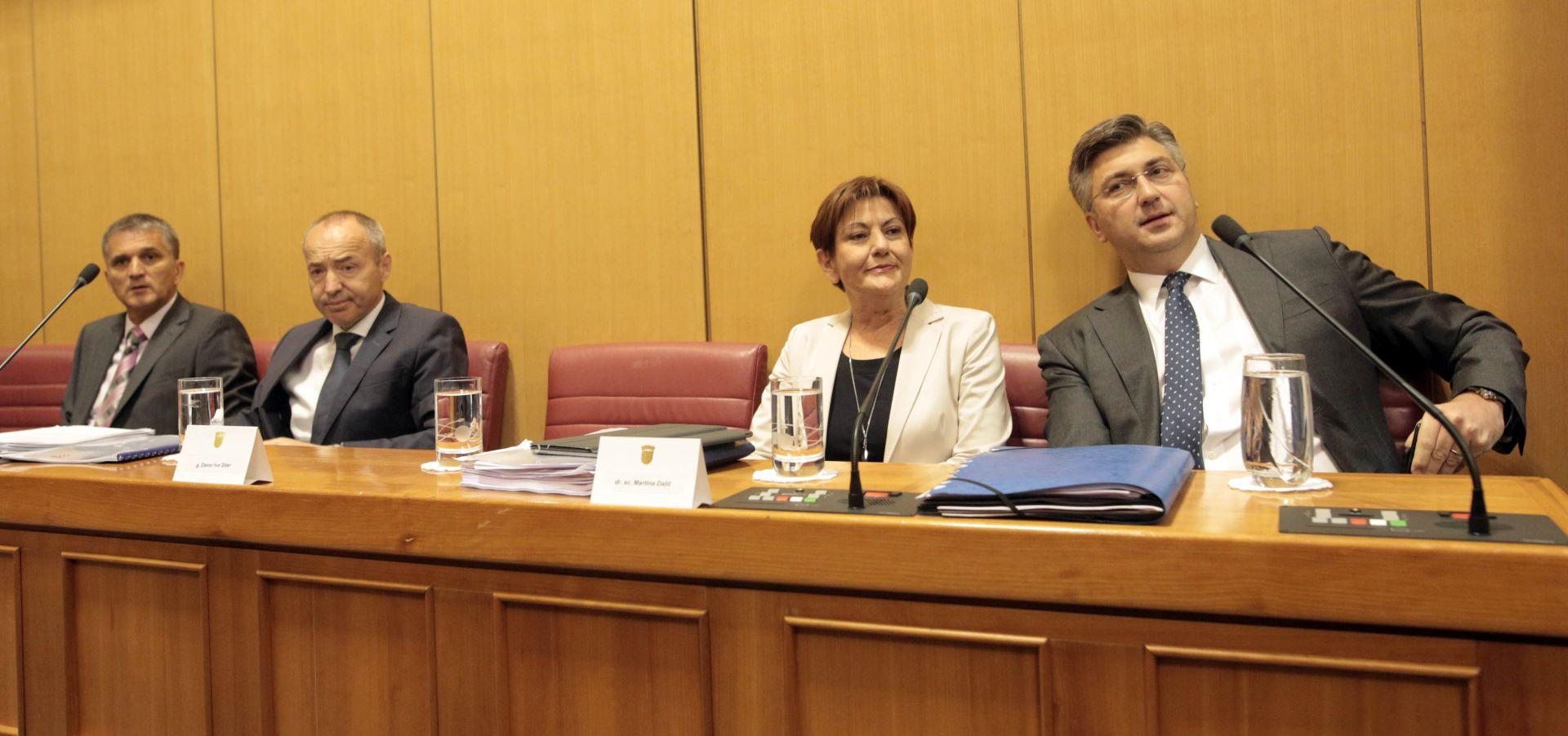 Odbačen oporbeni prijedlog za pokretanje povjerenja potpredsjednici Dalić