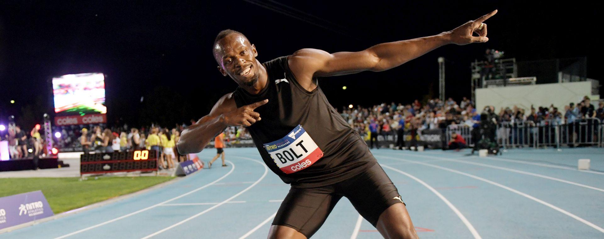 VIDEO: POSLJEDNJA UTRKA PRED DOMAĆOM PUBLIKOM Bolt slavio na 100 metara pred 30 tisuća ljudi
