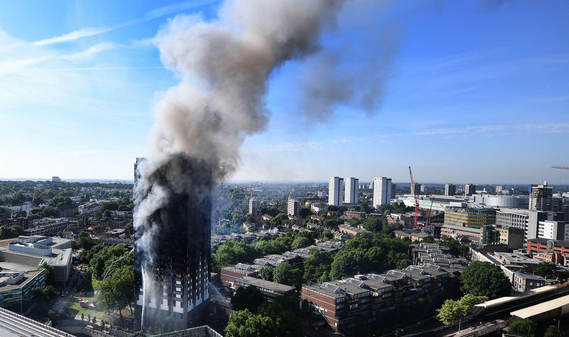 POŽAR U LONDONU Postavljen loš materijal da bi zgrada izgledala luksuznije