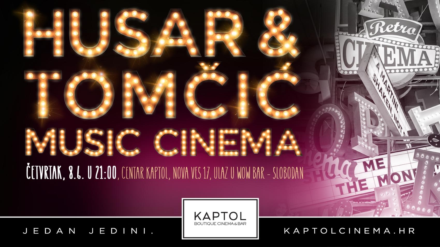 HUSAR & TOMČIĆ MUSIC CINEMA Vokalno–scenski spektakl pod vodstvom Ivane Husar i Martine Tomčić
