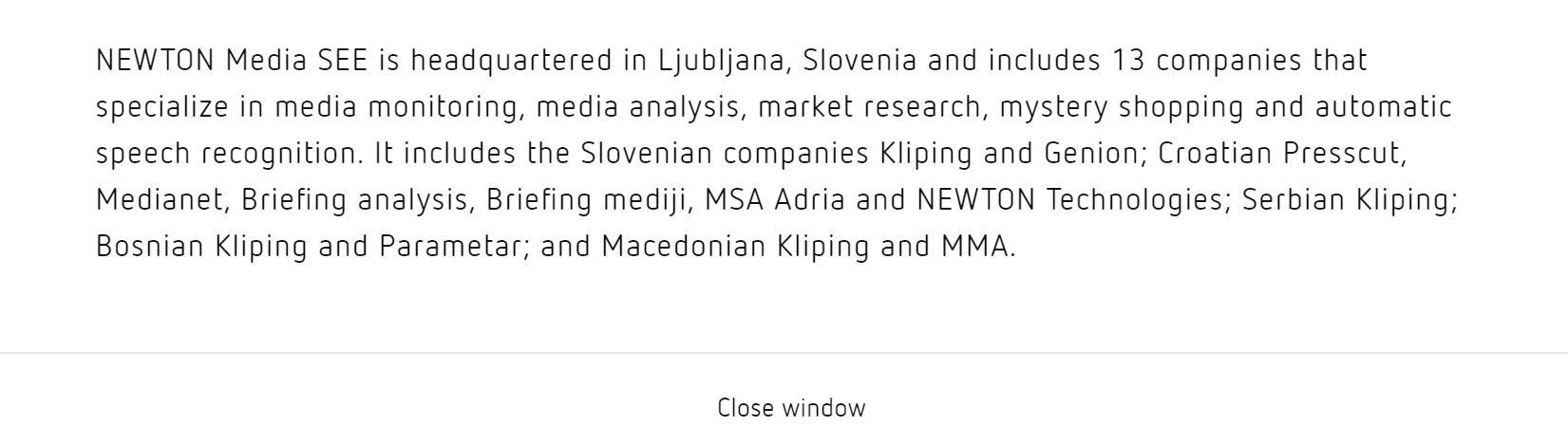 MCA grupa postaje Newton Media SEE