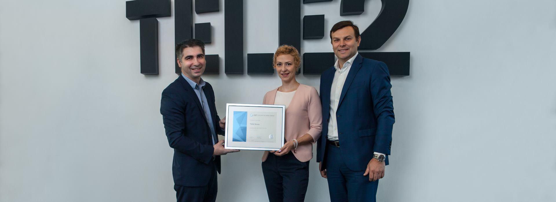 Tele2 Hrvatska primio certifikat Poslodavac Partner po sedmi put