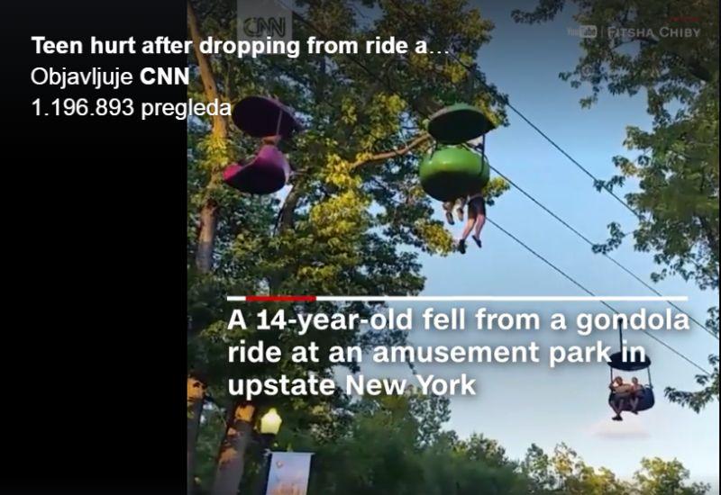 NEW YORK 14-godišnja djevojčica ispala iz viseće gondole u lunaparku