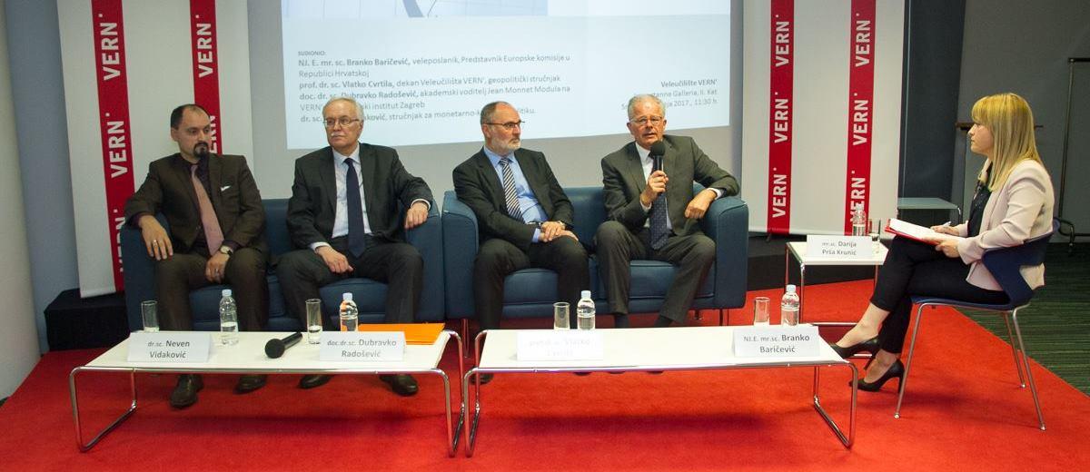 Danas je na Veleučilištu VERN' održan okrugli stol pod nazivom 'Strukturne reforme i pozicija Hrvatske u 2017.'