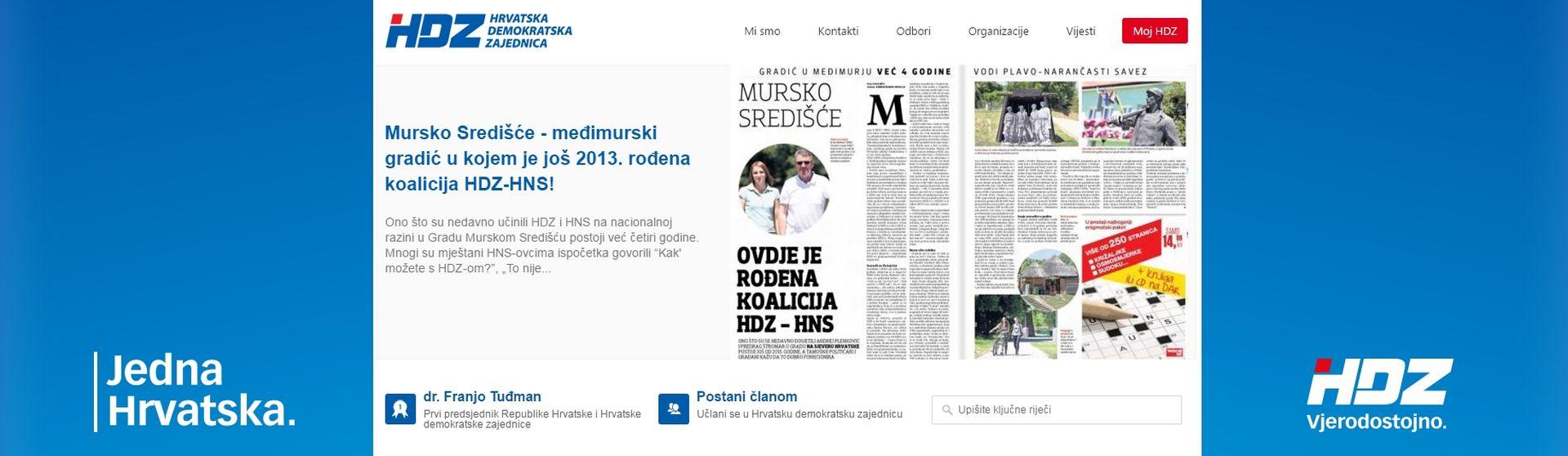Umjesto rođendana HDZ danas 'slavi' rođendan koalicije HDZ-a i HNS-a