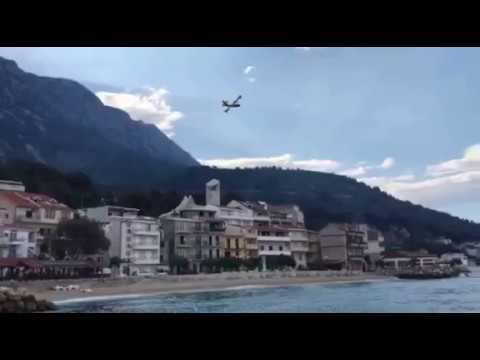 VIDEO: Požar iznad magistrale kod Makarske, bura stvara velike probleme vatrogascima