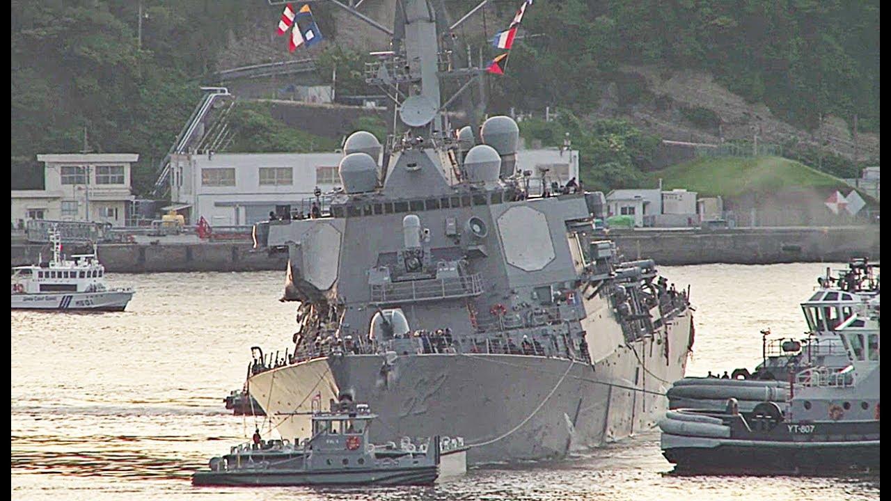 VIDEO: Izvučena tijela mornara iz američkog razarača koji se sudario