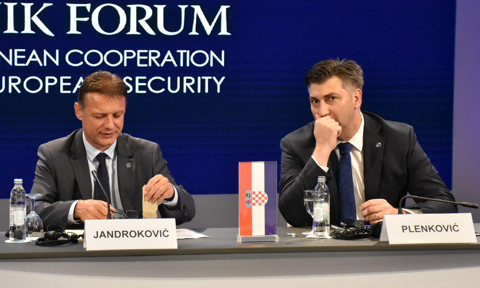 Plenković i Jandroković otvorili Dubrovnik Forum