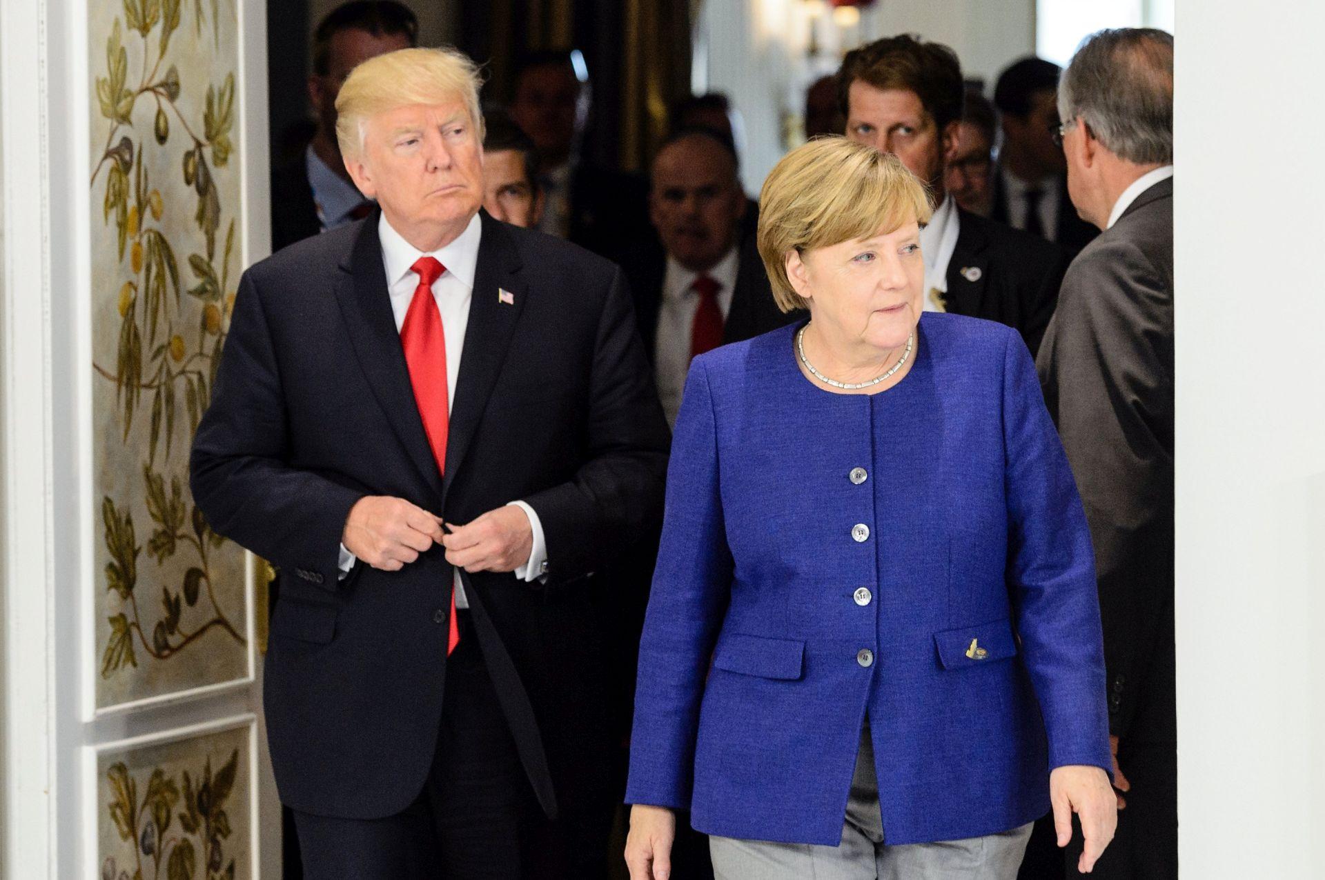 HAMBURG Susreli se Merkel i Trump