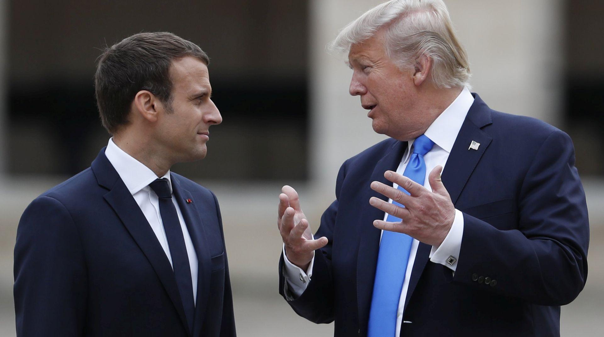 Trump i Macron razgovarali o Koreji i Iranu