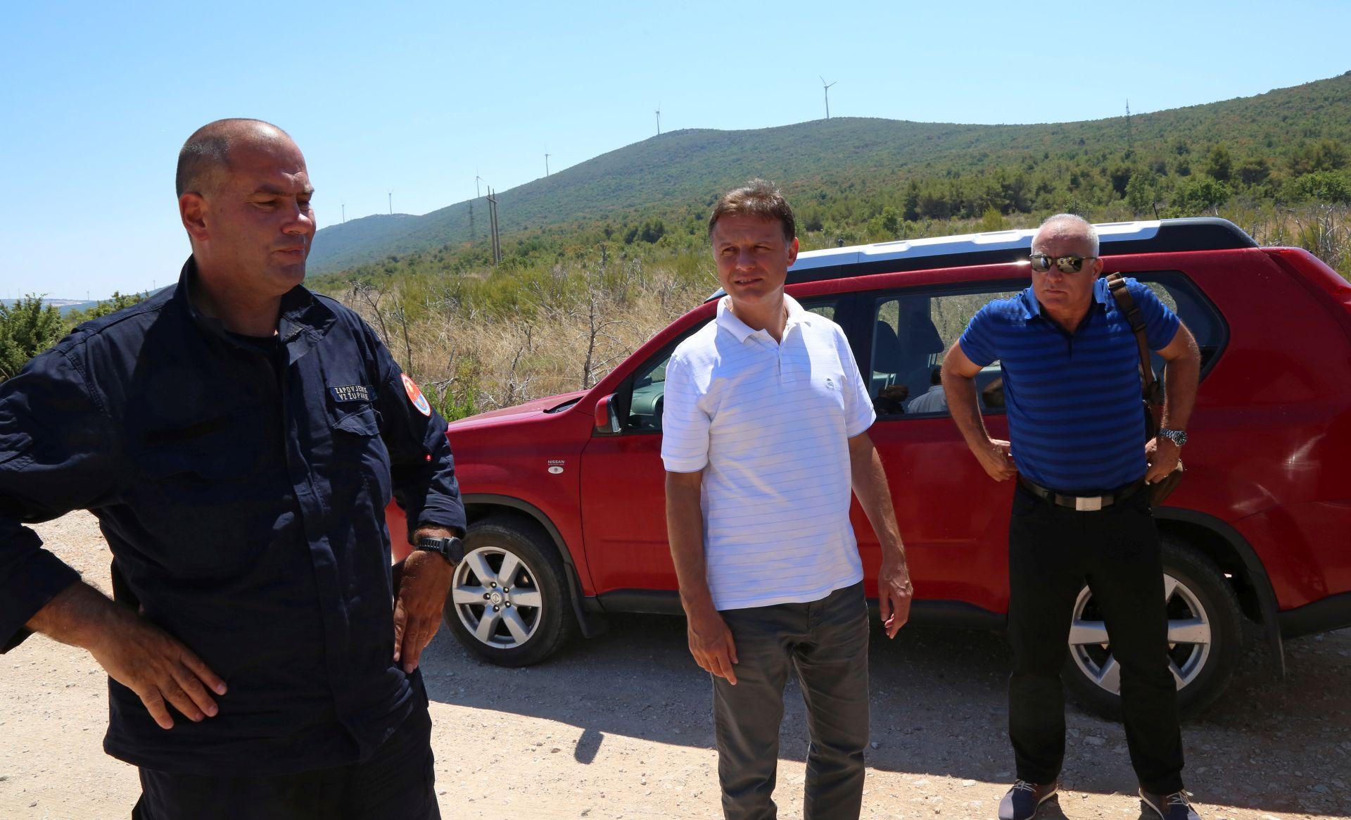 Jandroković obišao opožarena područja u Šibensko-kninskoj županiji