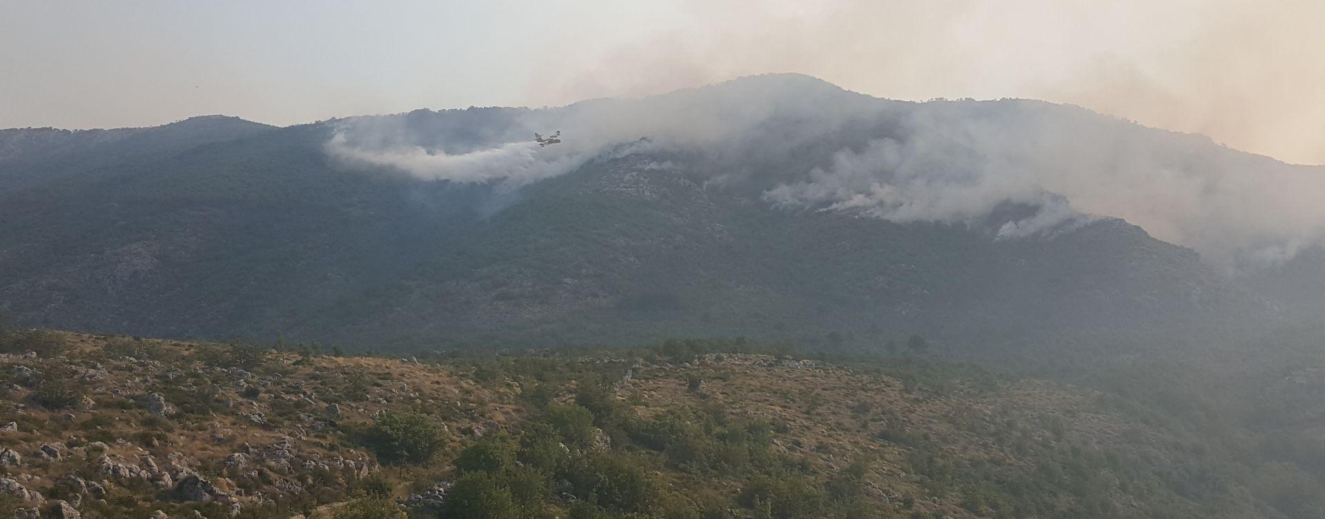 Požar u Konavlima pod nadzorom, još uvijek mjestimično ima otvorenog plamena