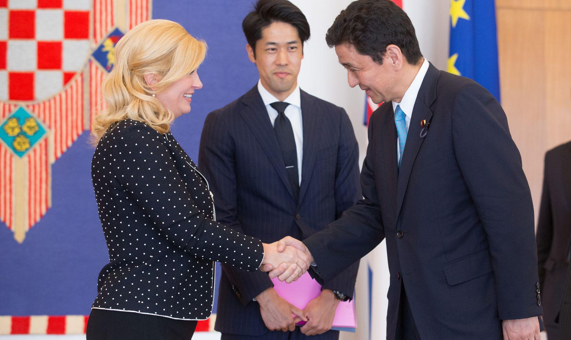 Predsjednica primila državnog ministra vanjskih poslova Japana