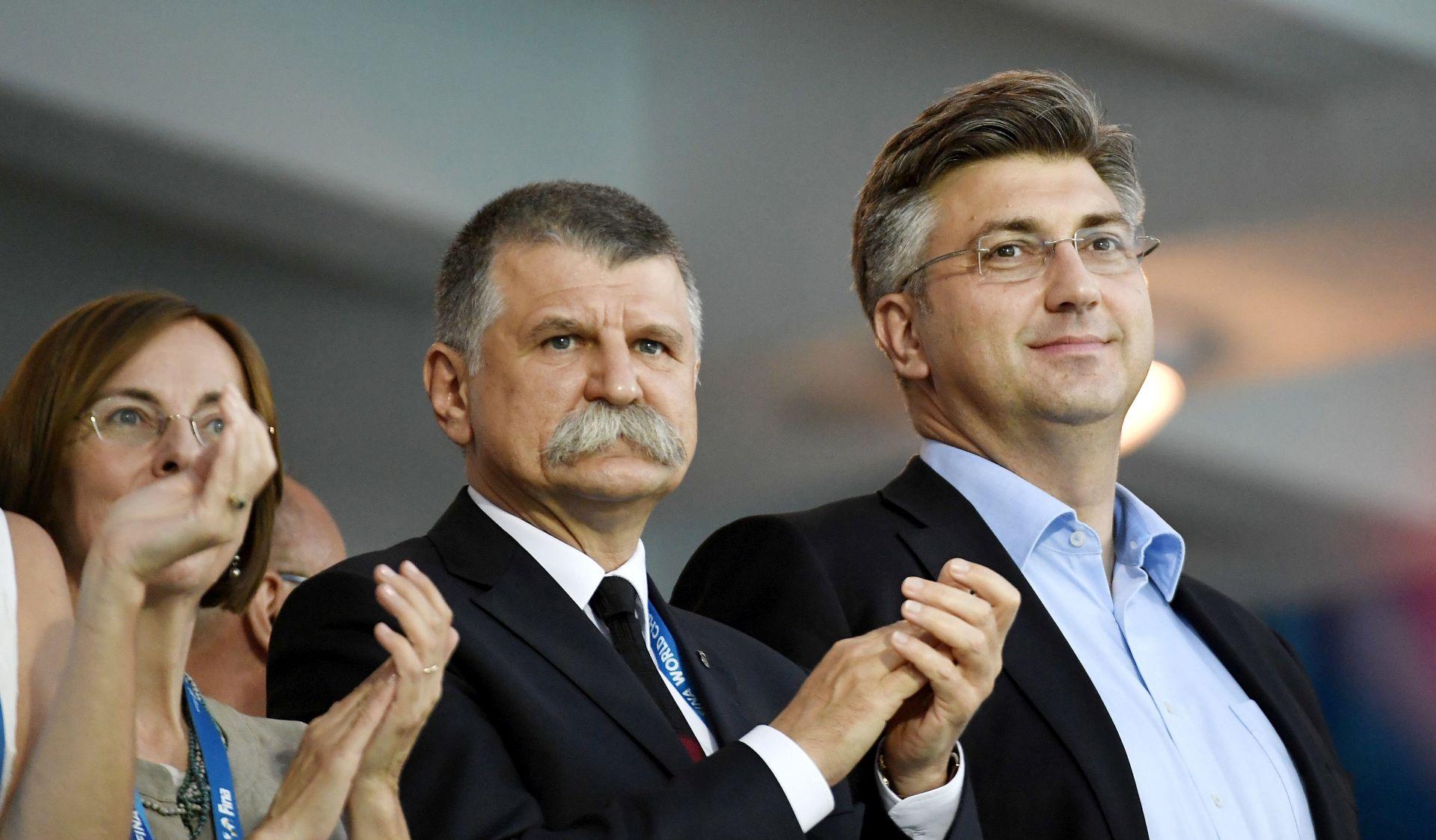 DRŽAVNI VRH U BUDIMPEŠTI Plenković, Dalić, Štromar i Kostelić navijali za Barakude