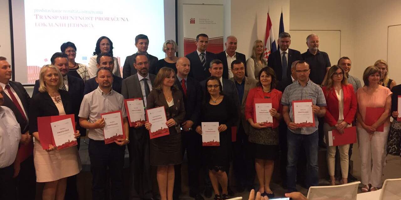 Institut za javne financije analizirao i ocijenio transparentnost proračuna županija, gradova i općina