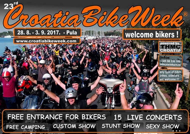 FOTO: I ove godine očekuje vas Croatia Bike Week