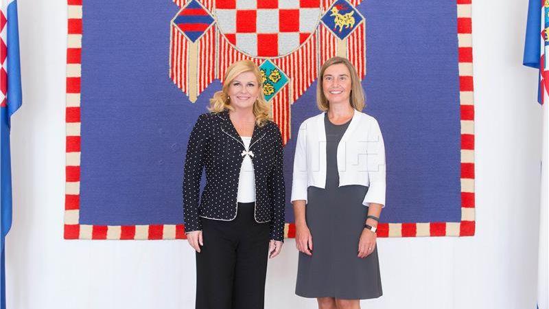 Grabar-Kitarović razgovarala s Federicom Mogherini o stanju na jugoistoku Europe