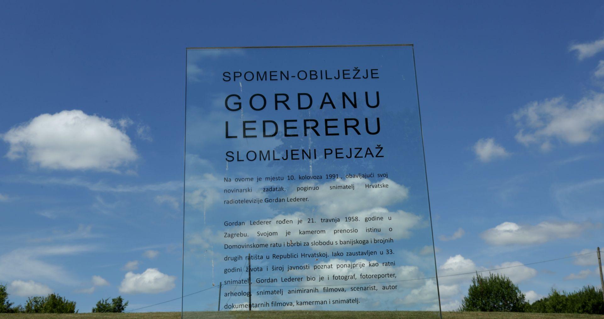 OBLJETNICA Prije 26 godina poginuo snimatelj HTV-a Gordan Lederer