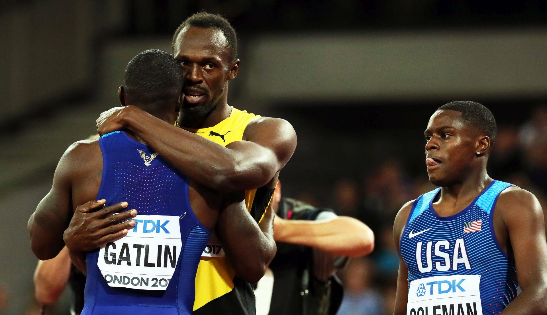 ŠOK U LONDONU Gatlinu svjetsko zlato na 100 metara, Bolt u zadnjoj utrci treći