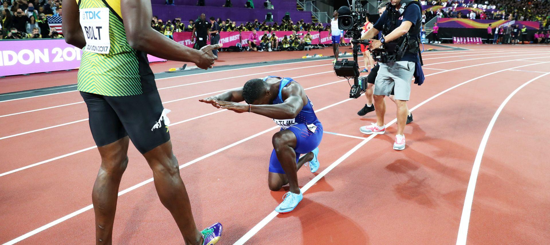 Novi svjetski prvak Gatlin poklonio se velikom Boltu