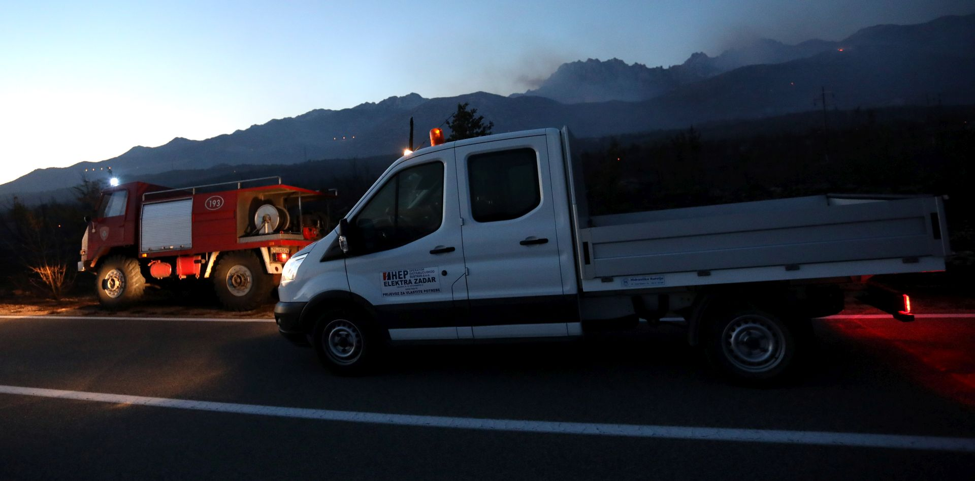 HAK Zbog požara zatvorene ceste u Pristegu i Kistanju
