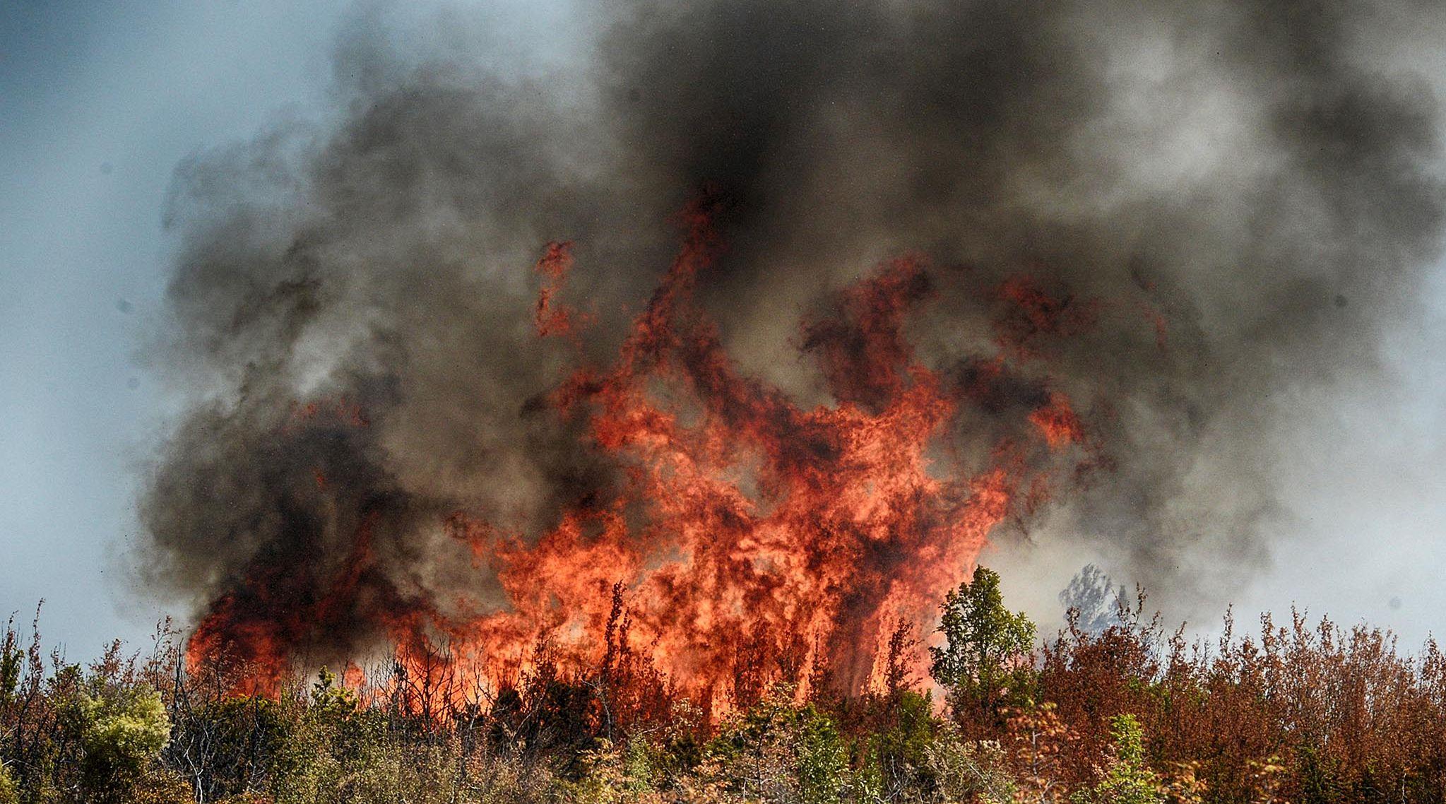 Buknuo požar na Lećevici