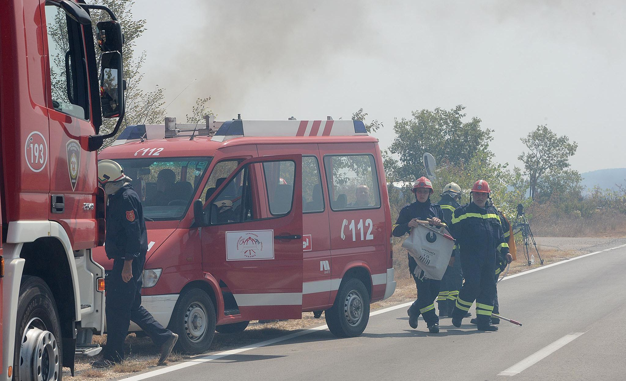 Požar borove šume kod Supetra na otoku Braču