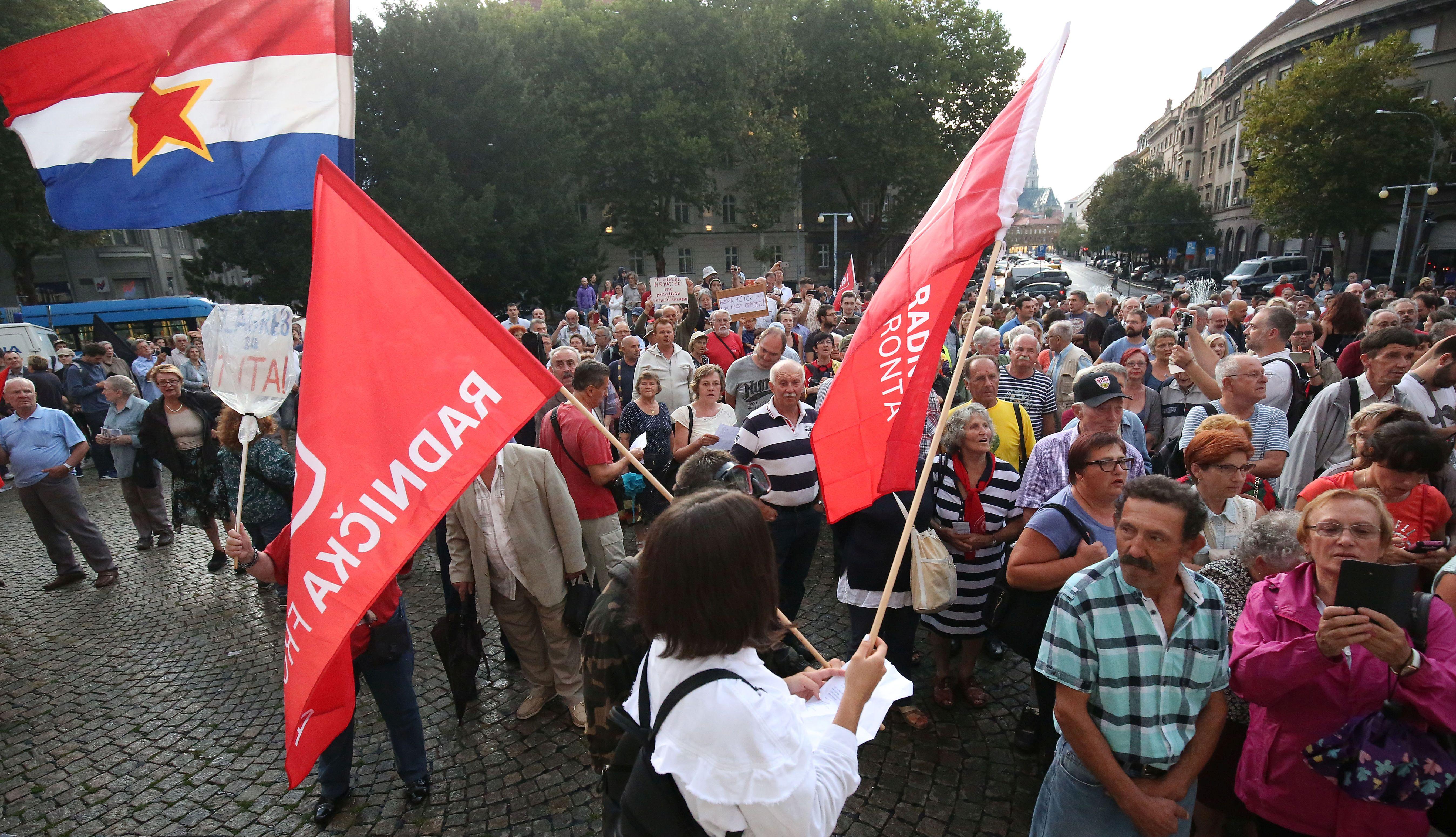Prosvjed protiv zatiranja anfitašizma u Zagrebu