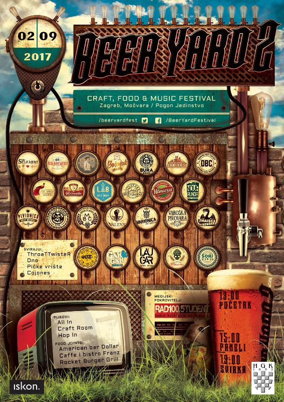 Festival BeerYard spaja glazbu, craft pivo i street food