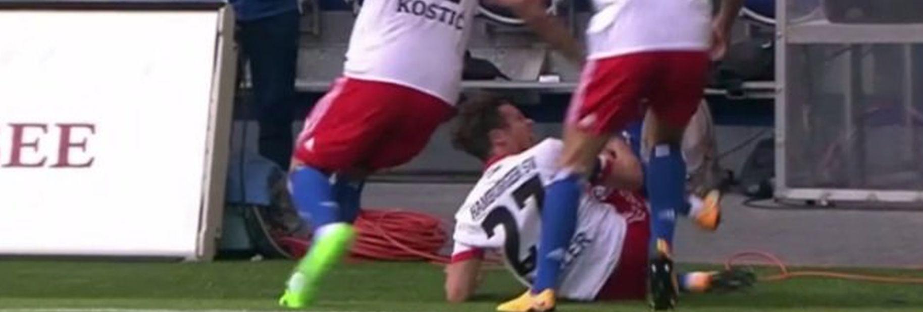 VIDEO: E TAKO SE (NE) SLAVI Dao gol i polomio ligamente u gležnju i koljenu